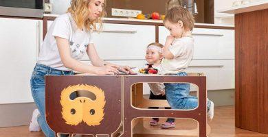 comprar Torre de Aprendizaje para 2 niños gemelos Mono Sabio precio