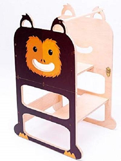 ofertas Torre de Aprendizaje Montessori para 2 niños gemelos Mono Sabio