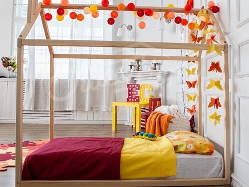 cama casa madera montessori