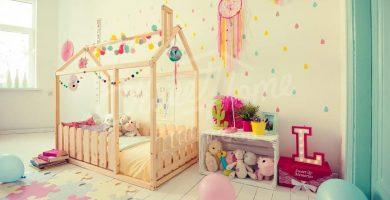 cama casa niña montessori