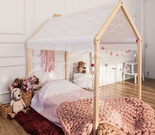 cama casita montessori niña