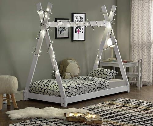 cama tipi para niños montessori