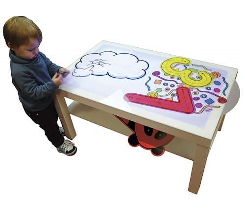 mesa de luz montessori