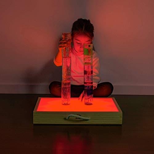 mesa de luz para niños Montessori